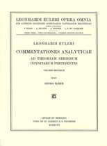 Commentationes analyticae ad theoriam serierum infinitarum pertinentes 3rd part, 1st section