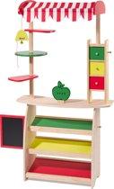 "howa houten speelgoed winkeltje / marktlieden ""Mika"" met luifel 4747"