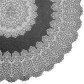 Binnen/buiten tafelkleed/tafellaken antraciet grijs 152 cm rond - Ronde kanten tafelkleden Amira - Tuintafelkleed tafeldecoratie