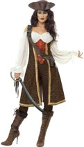 Bruin pirate pak vor dames - Verkleedkleding - Medium