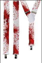 Bretel horror wit met bloed