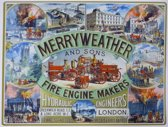Wandbord - Merryweather Fire Engine Makers -30x40cm-