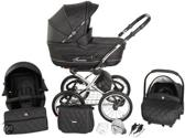 Tutek Turran Silver - Kinderwagen - Eco Leather Black