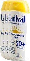Ladival Zonnebrand Gel Zongevoelige Huid Factor(spf)50+ Voordeelverpakking