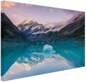 FotoCadeau.nl - Mount Cook bij zonsondergang  Canvas 60x40 cm - Foto print op Canvas schilderij (Wanddecoratie)