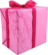 LOVLY® Cadeaupapier, 50cm, 200m, 80gr/m², Marble Candy, roze