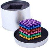 Neocube - Buckyballs - Magneetballetjes - Multi color - 6 Kleuren - 216 Buckyballs - 5mm - Magnetische Balletjes, Magnetisch Speelgoed - Magnetic Balls - Bucky Balls Geleverd in een Mooie Metalen Geschenkdoosje - Kado Tip - Verjaardag