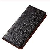 Samsung Galaxy S10 Krokodil Portemonnee Hoesje Zwart