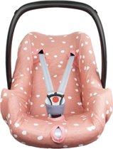 Briljant Baby Autostoelhoes interlock - grey pink - spots - maat 0+