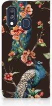 Samsung Galaxy A40 Hoesje maken Pauw met Bloemen
