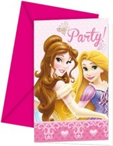 Disney Prinses Uitnodigingen, 6st.