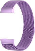 Fitbit Charge 3 Luxe Milanees bandje  Licht Paars / Light Purple  Premium kwaliteit   Maat: M/L   RVS  TrendParts
