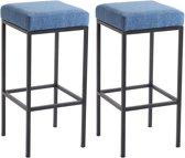 Clp Newark 80 - Set van 2 barkrukken - Stof - Blauw Zwart