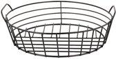 Draadmand DYLAN - Zwart - Metaal - Rond - Ø 25 x h 9 cm