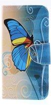 Samsung Galaxy A50 Hoesje - Book Case - Blauwe Vlinder