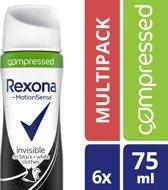 Rexona Invisible Diamond Deodorant - 6 x 75 ml - Voordeelverpakking