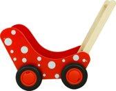 Poppenwagen Stippen - Rood & Wit