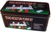 Pokerset Deluxe 200 chips in luxe bewaardoos