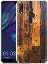 Huawei Y7 2019 Hoesje Special Wood