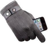 Touch Handschoenen - Handschoenen - Touchscreen handschoenen - Suéde - Grijs