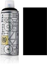 Spray.Bike Zwarte Fietsverf - London Collection 400ml Fiets Verf - Poedercoating voor fiets frames, ontworpen voor zowel amateur- als professioneel gebruik
