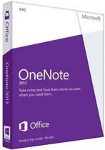 Microsoft OneNote 2013 - Nederlands / 32-bit/64-bit / 1 Licentie / Medialess Non-Commercial