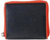 Pia Ries Ritsportemonnee  861-7 Colored Edge Leer - Oranje