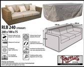 RLB240straight Beschermhoes voor een loungebank 240 x 100 H: 75 cm taupe