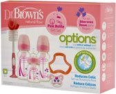 Dr. Brown's Giftset Brede Halsfles roze