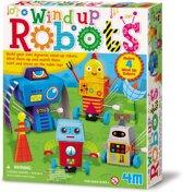 ZZZ4M Crea: OPWIND-ROBOTS 6-9cm, bevat materiaal om 4 opwind-robots te maken;