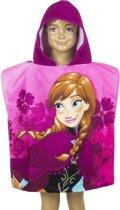 Frozen Anna badcape/badponcho roze voor kinderen