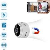 TKSTAR WIFI FHD 150 Mate Wijde Hoek 1080P Mini Spycam Infrarood Nachtzicht Draadloze Verborgen Camera Huis Beveiliging Gratis APP Wit