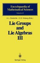 Lie Groups and Lie Algebras III