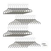 relaxdays kledinghanger fluweel - broekhanger dun - kleerhangers velvet - draaibare haak Pak van 50