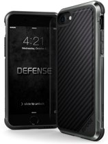 X-Doria Defense Lux cover - zwarte streep - voor iPhone 7 en iPhone 8