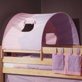 Bedtunnel klein - roze/paars hart