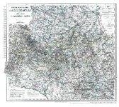 Historische Karte: Fürstentümer Schwarzburg und Reuss 1864 (plano)