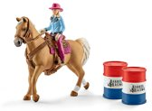 Schleich Barrel racing met cowgirl 41417