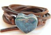Armband hart jeans