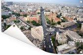 Luchtfoto van de straten in Karachi Tuinposter 60x40 cm - klein - Tuindoek / Buitencanvas / Schilderijen voor buiten (tuin decoratie)