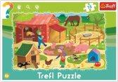 Framepuzzel  - De boerderij, 15 stukjes Puzzel