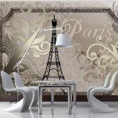 Fotobehang - Vintage Parijs - Goud