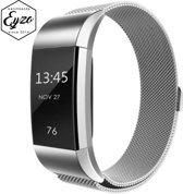 FitBit Charge 2 Milanees Bandje Zilver - Milanese Stainless Steel FitBit Band Silver - RVS / Roestvrij staal / Metalen armband met magneetsluiting- Maat Small
