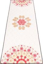 JAP Sports - Yoga handdoek met grip anti slip - Bescherming voor de yoga mat (1,85 x 70 cm) - Inclusief opbergtas - Bloem