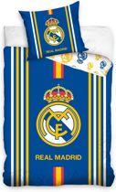 Real Madrid Dekbedovertrek Met Logo 140 X 200 Cm Blauw/geel