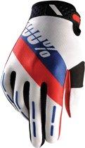 100% Ridefit Honor fietshandschoenen Heren rood/wit Maat XL