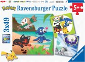 Ravensburger Pokémon. Drie puzzels van 49 stukjes - kinderpuzzel