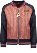 NONO Meisjes truien & vesten NONO Diamond indoor jacket with immitatio bruin 146/152