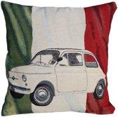 Fiat 500 - Sierkussen - 45x45 cm - Multicolour - Italiaanse vlag