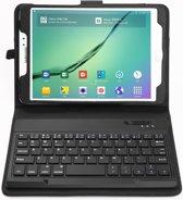 Shop4 - Samsung Galaxy Tab S2 8.0 - Bluetooth Toetsenbord Hoes Keyboard Cover Grain Zwart